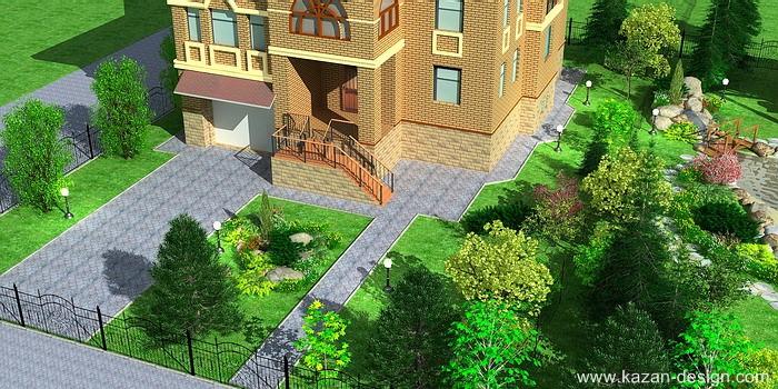 Фото ландшафтного дизайна перед домом